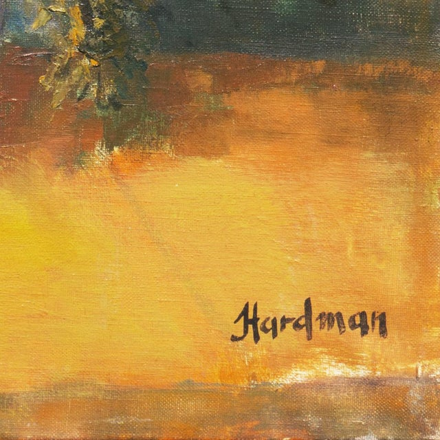 """Signed lower right, """"Hardman"""" (American, 20th century) and painted circa 1965. A large and period Expressionist still-life..."""