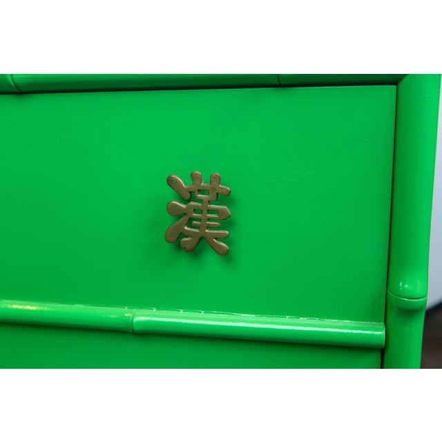 Ficks Reed Pair of Asian/Chinoiserie Ficks Reed Faux Bamboo Chests For Sale - Image 4 of 9