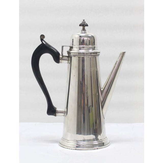 Silver Jacob Hurd by Frank Whiting Sterling Silver Tea Coffee Pot For Sale - Image 8 of 8