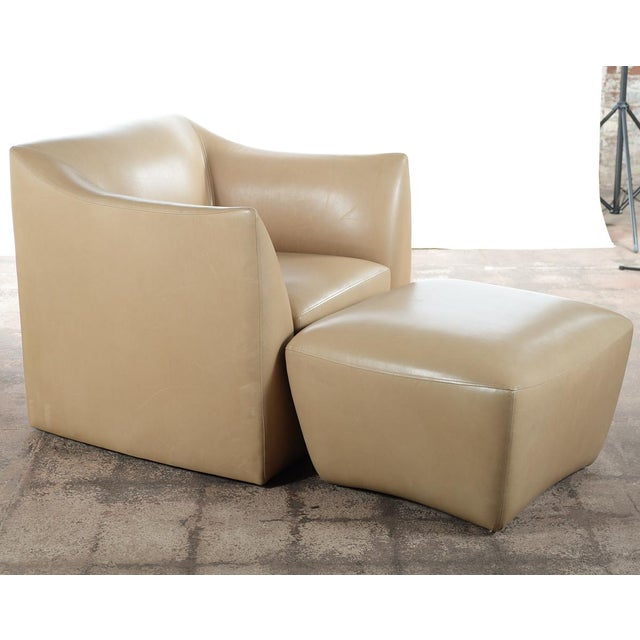 Excellent Club Leather Chair With Ottoman Designer Alphanode Cool Chair Designs And Ideas Alphanodeonline