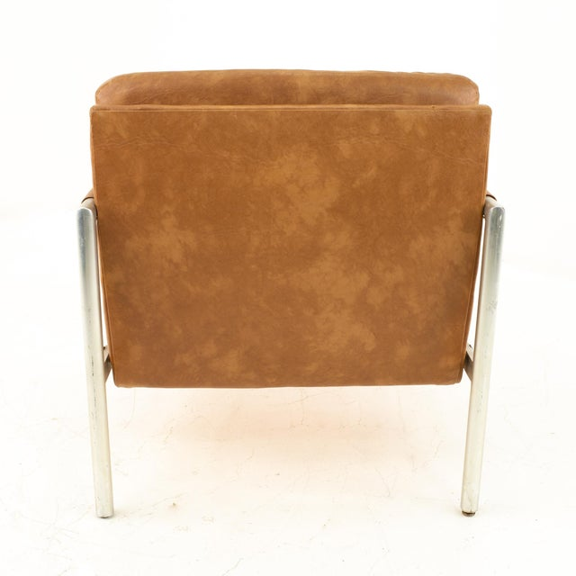Metal Jack Cartwright for Founders Mid Century Lounge Chairs - Pair For Sale - Image 7 of 11