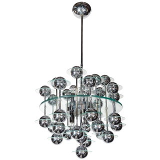 Italian Mid-Century Modern Space Age Chandelier For Sale