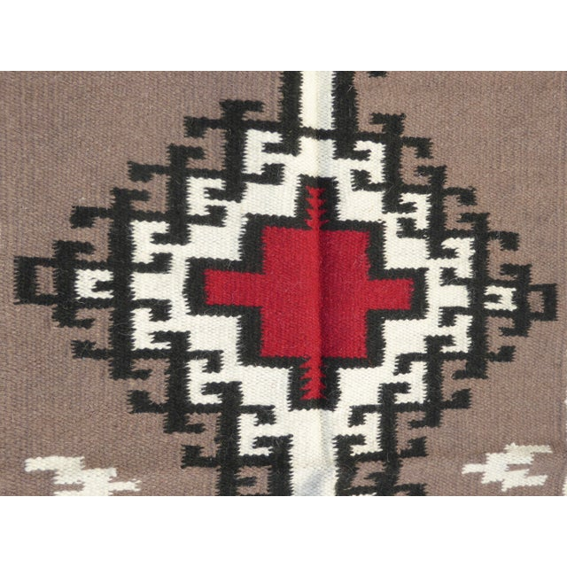 Southwestern Style Geometric Pattern Wool Blanket / Tapestry For Sale - Image 4 of 7