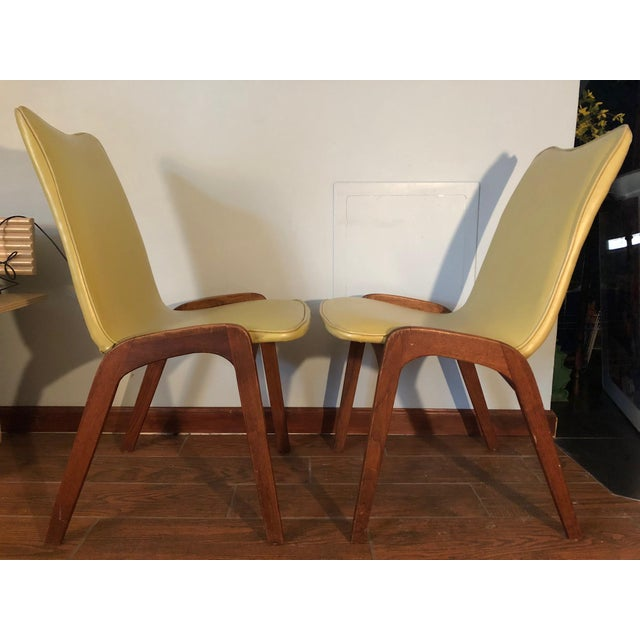 Johannes Andersen Style Mid-Century Danish Teak Chairs - a Pair For Sale - Image 9 of 9