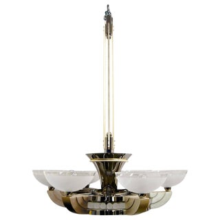 Art Deco The Odette Chandelier by Sally Sirkin Lewis for J. Robert Scott For Sale