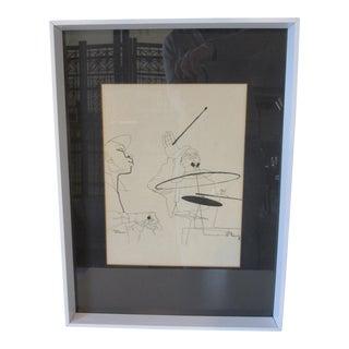 David Stone Martin Jazz Print Verve Records For Sale
