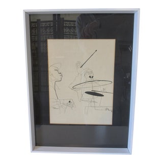 "David Stone Martin ""Jazz"" Verve Records Print For Sale"