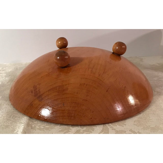 Mid-Century Modern Wooden Salad Bowls - Set of 7 - Image 8 of 11