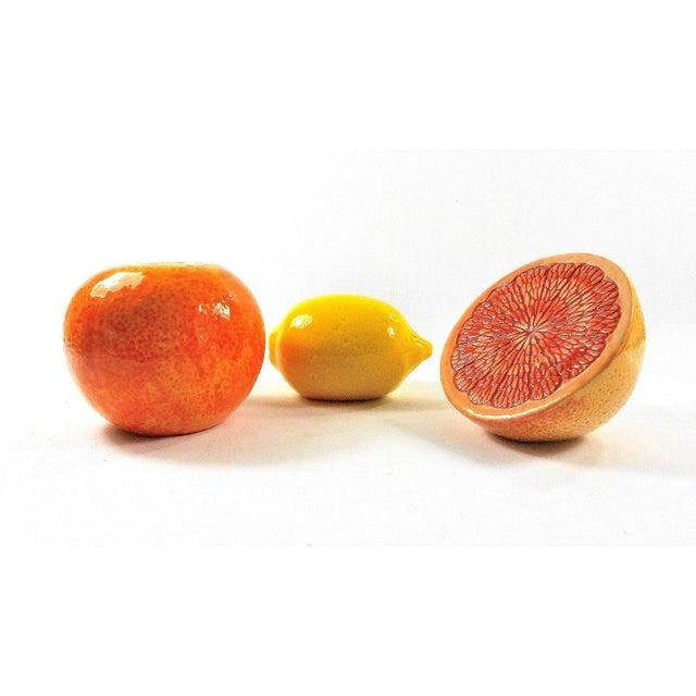 Grapefruit, Orange & Lemon Ceramic Fruit - Set of 3 - Image 11 of 12