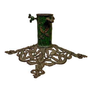 Antique French Iron Umbrella Stand For Sale