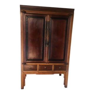 Antique Asian Teak Cabinet
