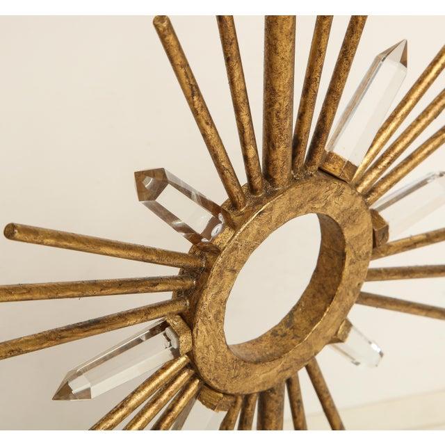 Brass Gilt Metal Sunburst Lamps For Sale - Image 8 of 10