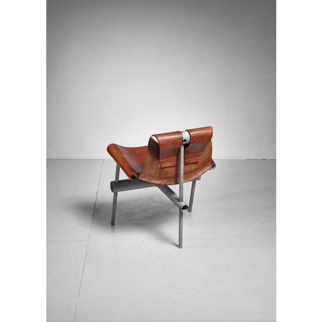 Max Gottschalk Max Gottschalk prototype leather sling chair, USA, 1960s For Sale - Image 4 of 6