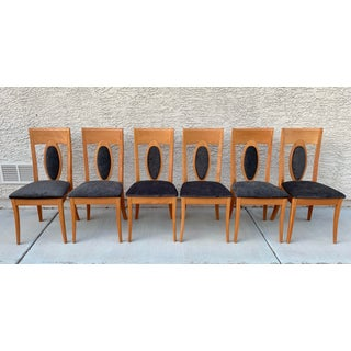 1990s Vintage Italian Lacquered Dining Chairs by Calligaris- Set of 6 Preview