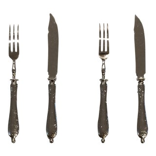 Vintage Margarita Finlandia Forks and Knives - Set of 4 For Sale