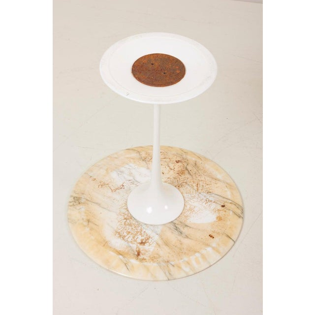 Tulip Side Table With White Marble Top by Eero Saarinen for Knoll International For Sale - Image 6 of 9