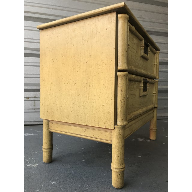 Stanley Furniture Faux Bamboo End Table Hollywood Regency For Sale In Tampa - Image 6 of 8