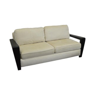Thayer Coggin Modern Design Black & White Sofa For Sale