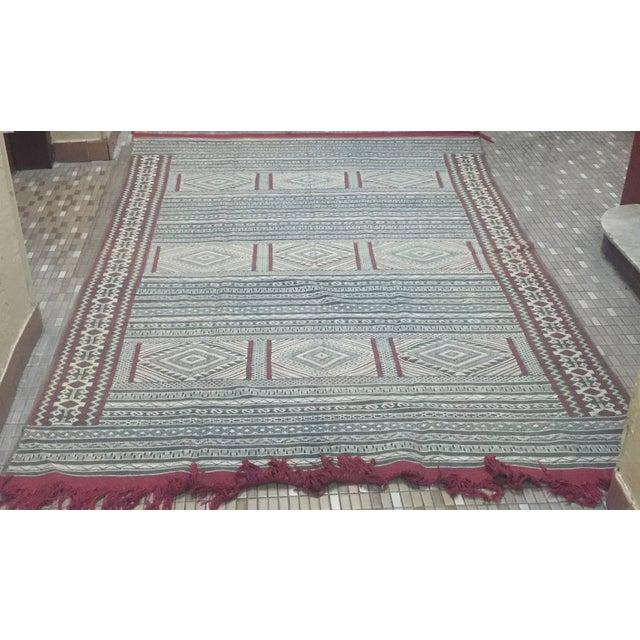Moroccan Flatweave Kilim - 6′ × 8′2″ - Image 6 of 7