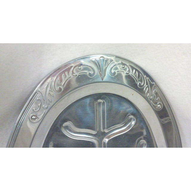 Art Deco Oval Chrome Meat Platter - Image 2 of 6