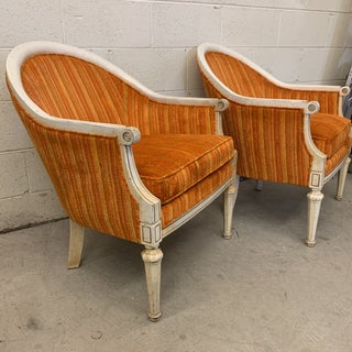 Vintage French Style Barrel Back Chairs- a Pair Preview