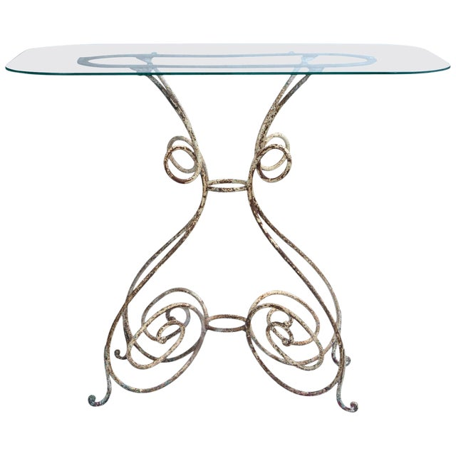 Iron Bistro Table, France, Circa 1910 For Sale