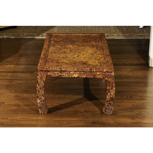 1980s Exquisite Mosaic Lacquered Coffee Table in the Style of Enrique Garcel For Sale - Image 5 of 11
