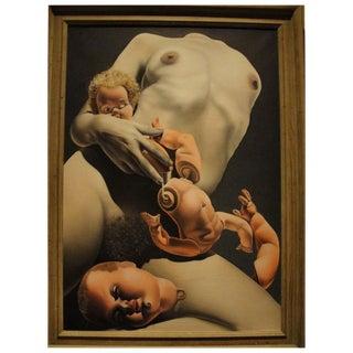 Stupendous Realist Oil on Canvas