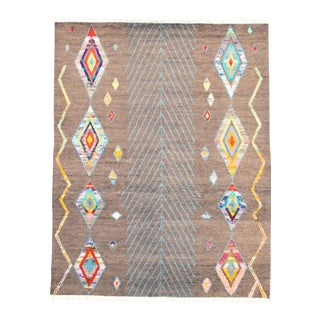 "Moroccan Style Hand-Knotted Rug, 7'9"" X 9'9"" For Sale"