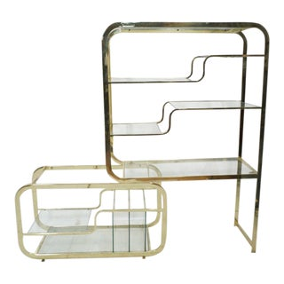 DIA Brass Etagere For Sale