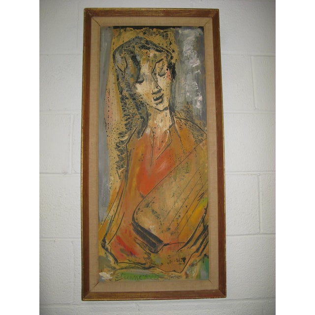 Etienne Ret Cubist Portrait Oil Painting - Image 5 of 7