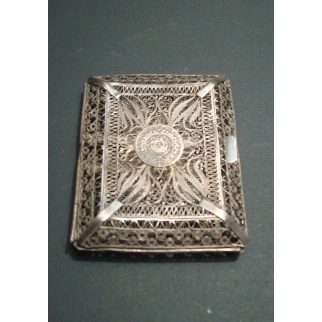 Vintage Filigree Silver Cigarette Case - Image 3 of 6