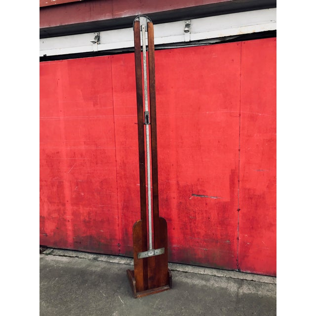 Antique 20th Century Wood & Iron Stadometer For Sale - Image 11 of 12