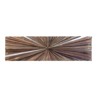 Ferpas Rectangular Wall Sculpture with Aluminum Details For Sale