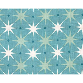 Hinson for the House of Scalamandre Star Power Fabric in Aqua