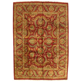 Pasargad Hand Knotted Indo Agra Wool Rug - 9′ × 12′ For Sale