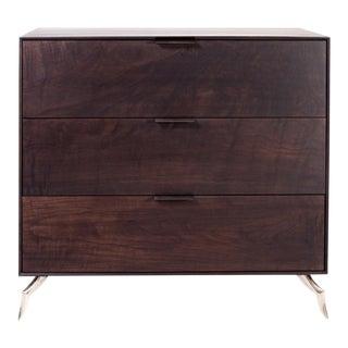 Richard 3 Drawer Walnut Dresser For Sale