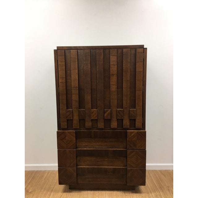 Brutalist Armoire by Lane For Sale - Image 13 of 13