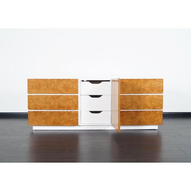 Lane Furniture Vintage Burl Wood Dresser by Lane For Sale - Image 4 of 9