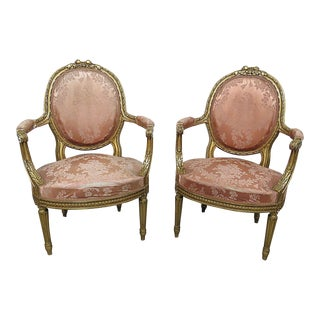 French Regency Style Armchairs - a Pair
