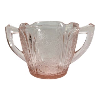 Pink Depression Glass Sugar Bowl For Sale