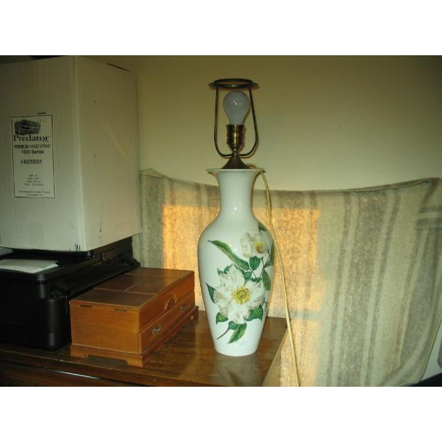 Yellow Mid-Century Rosenthal Selb Bavaria Germany Large Table Lamp For Sale - Image 8 of 8