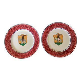 Handpainted Italian Palio Dinner Plates - a Pair For Sale