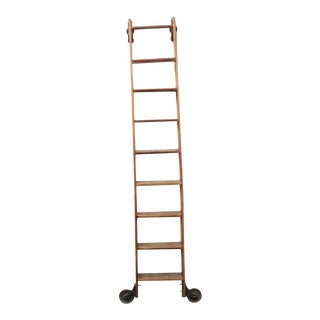 Antique Original American Library Ladder For Sale