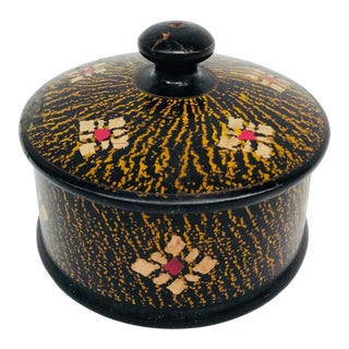 Wood Turkish Round Box