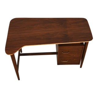 Mid century Modern Biomorphic Shaped Walnut Desk