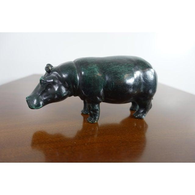 Sergio Bustamante Sergio Bustamante Bronze Hippo Sculpture For Sale - Image 4 of 7