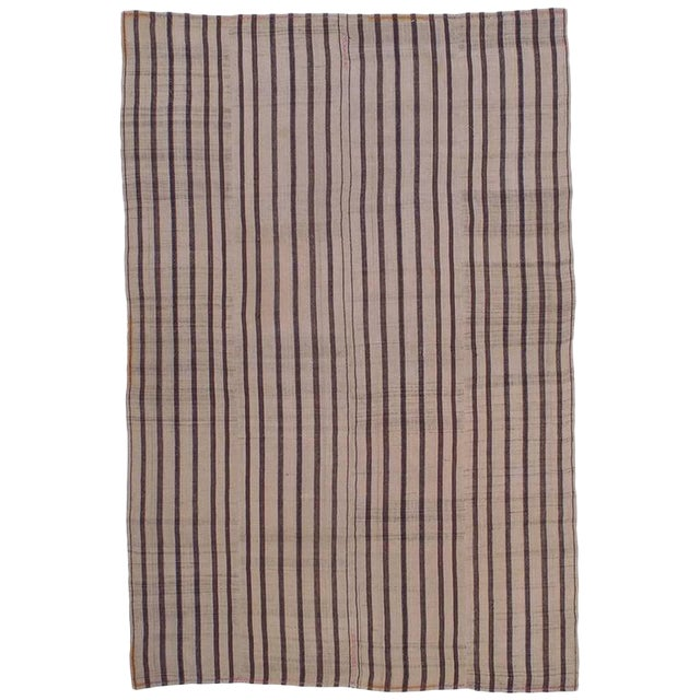 """Striped """"Jajim"""" in Brown and Ivory For Sale"""