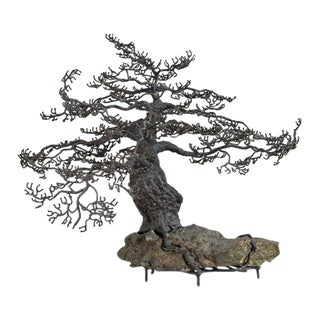 A Rare Bronze Bonsai Tree Table Sculture 1960s For Sale