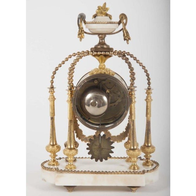18th Century Gilt Bronze French Portico Clock For Sale - Image 11 of 12